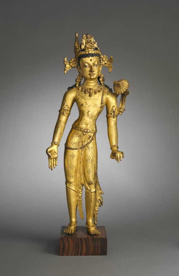15th century. Gilded copper; overall: 42.4 x 16.5 cm (16 11/16 x 6 1/2 in.). The Cleveland Museum of Art