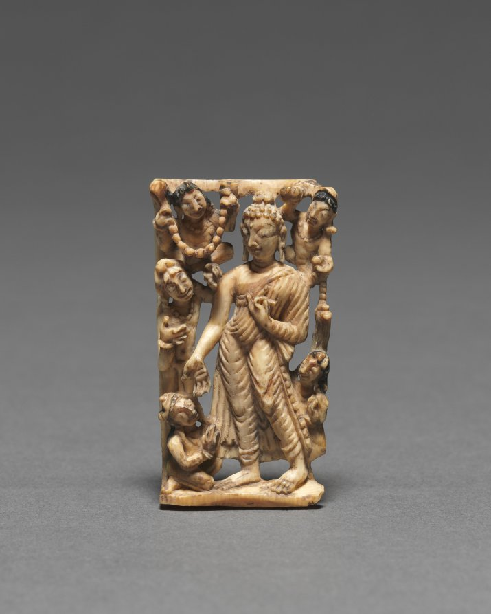 Ivory; overall: 4.8 x 2.8 x 0.6 cm (1 7/8 x 1 1/8 x 1/4 in.). The Cleveland Museum of Art