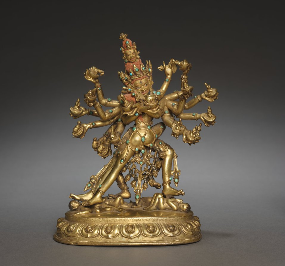 Gilt bronze inlaid with semi-precious stones; overall: 18.4 cm (7 1/4 in.). The Cleveland Museum of Art