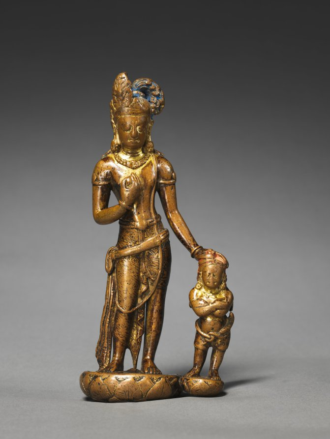 Copper with traces of gilt; overall: 17.8 cm (7 in.). The Cleveland Museum of Art