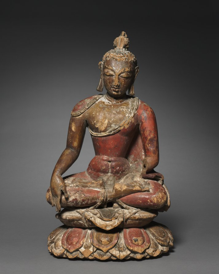 Painted wood; overall: 54.6 cm (21 1/2 in.). The Cleveland Museum of Art